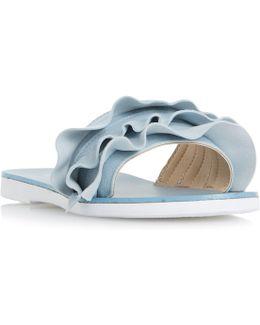 Laria Ruffle Mule Sandals