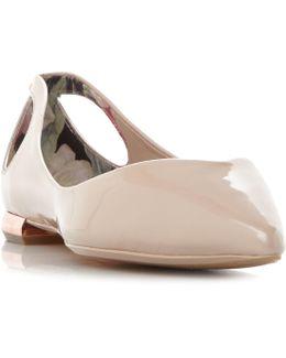 Dabih Bow Cutout Ballet Pump Shoes