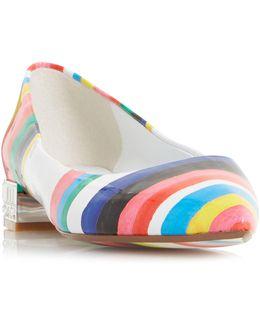 Brasillia Striped Flat Shoes