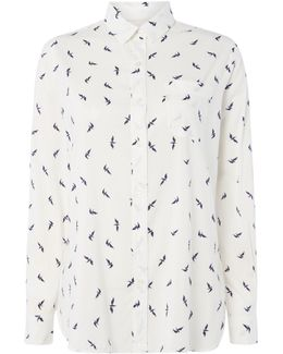 Trow Shirt With Seagull Print