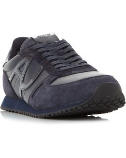 935027 Leather Logo Runner Trainers
