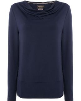 Cowl Neck Galloway Top With Hem Detail