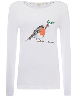 Redcliffe Long Sleeved T-shirt With Robin Print