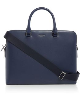 Harrison Double Pocket Leather Briefcase
