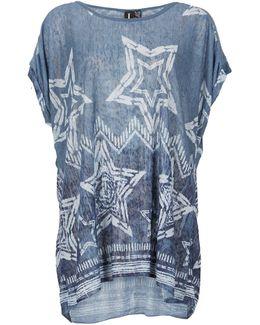 Star Print Smock Top