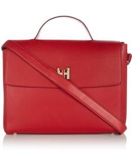 Twist Leather Satchel Bag