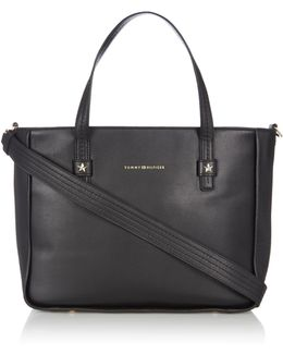 Novelty City Leather Tote Bag