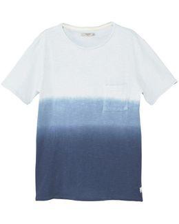 Ombrã©-stripe Cotton T-shirt
