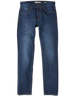 Straight-fit Dark Bob Jeans