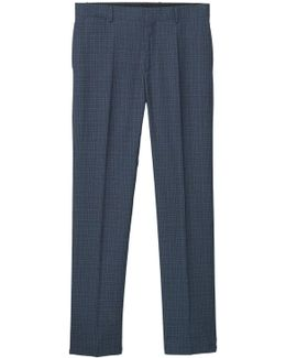 Regular-fit Check Suit Trousers