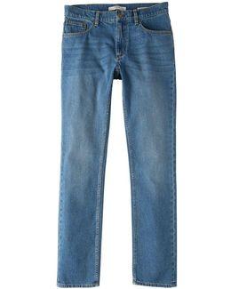 Straight-fit Medium Wash Bob Jeans