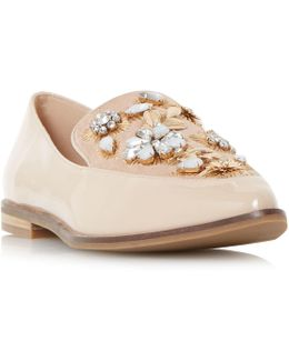 Gift Embellished Pointed Toe Loafer Shoe