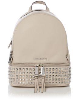 Rhea Zip Medium Stud Backpack