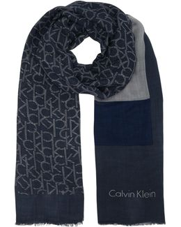 Ck All Over Logo Scarf