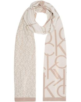 Ck All Over Logo Long Scarf