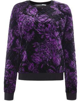 Berto Velvet Floral Sweatshirt