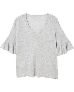 Ruffle Flowy Sweater