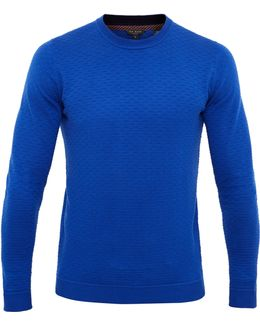 Rettop Textured Crew Neck Jumper