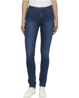 Protect Coat High Rise Skinny Santana Jeans