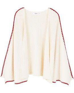 Contrast-trim Cotton Cardigan
