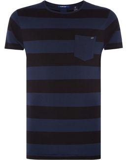 Men's One Pocket T-shirt In Seasonal Stripes