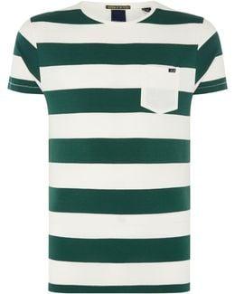 One Pocket T-shirt In Seasonal Stripes