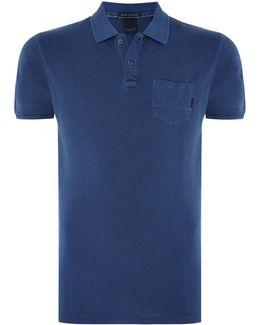 Garment Dyed Polo With Xxx