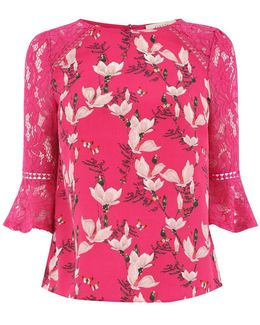 Magnolia Flute Sleeve Top