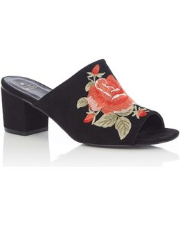 Hannah Embroidered Mule