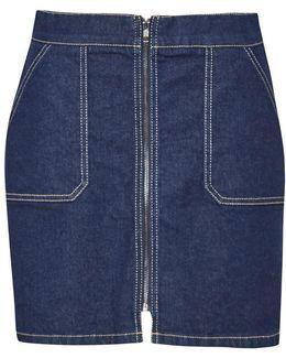 Cargo Twill A Line Mini Skirt