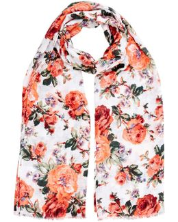 Floral Bloom Print Scarf