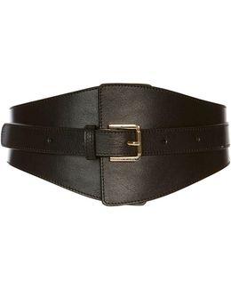 Leather Wide-waist Belt