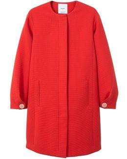 Textured Cotton-blend Coat