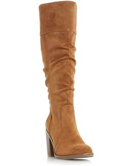 Tamika Rouched Knee High Boots