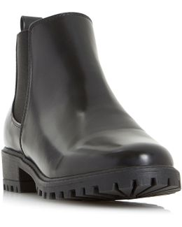 Portiaa Cleated Chelsea Ankle Boots