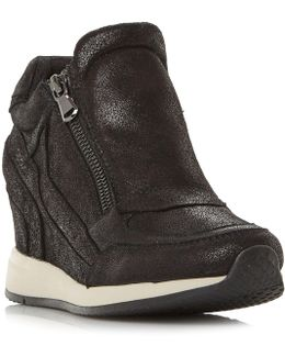 Nydame Zip Side Wedge Trainers