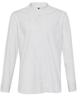 Sculpture Stripe Peached Cotton Shirt