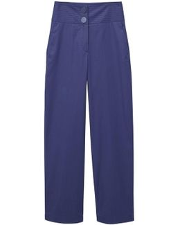 Seams Waist Coated Trousers