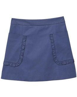 Pocket Cotton-blend Skirt