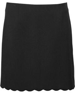 Sundae Suiting Scalloped Skirt