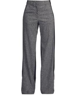 Antonia Wide Leg Tweed Trousers