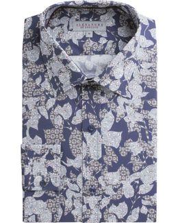 Popham Navy Floral Shirt