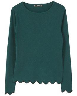 Scalloped Edges Sweater