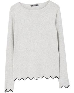 Scalloped Edges Sweater