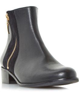Pauler Side Zip Ankle Boots