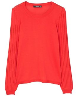 Pleated Sleeves Sweater