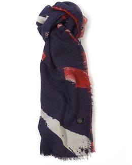 Abstract Union Jack Print Scarf