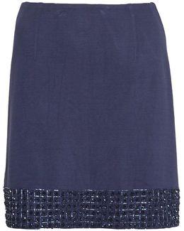 Crystal Shot Embellished Mini Skirt