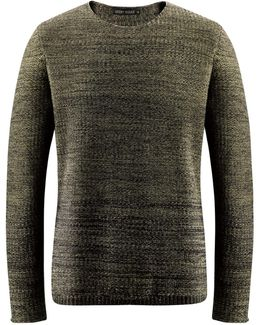 Sweater With Round Collar