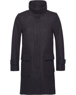 Carrie Wool Funnel Collar Coat